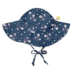 Chapéu de Banho Infantil com FPS +50 Floral Azul - iPlay