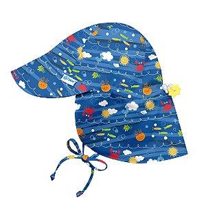 Chapéu de Banho Infantil Australiano com FPS +50 Oceano Atlantico - iPlay