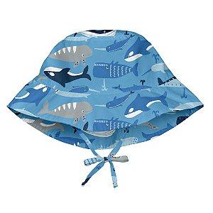Chapéu de Banho Infantil com FPS +50 Baleia Azul - iPlay
