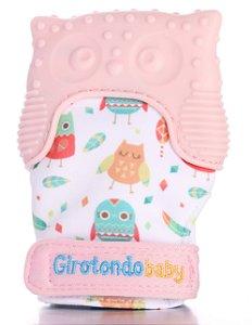 Luva Mordedor de Silicone Coruja Rosa - Girotondo Baby