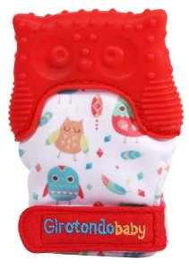 Luva Mordedor de Silicone Coruja Vermelho - Girotondo Baby