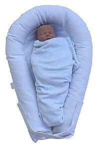 Ninho U-Baby Redutor de Berço Branco Pique - Colo de Mãe