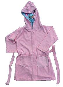 Roupão Infantil com Capuz Docinhos Rosa - Colo de Mãe