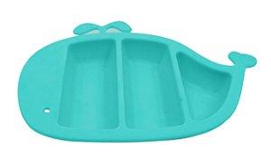 Prato de Silicone com Divisórias Baleia (Permite Freezer e Microondas) - Girotondo Baby