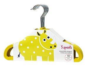 Kit de Cabides Infantis de Veludo (10 unidades) Amarelo - 3 Sprouts
