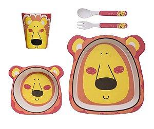 Kit Alimentação ECO (5 Peças) Leão - Girotondo Baby
