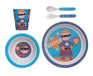 Kit Alimentação ECO (5 Peças) Super Herói - Girotondo Baby