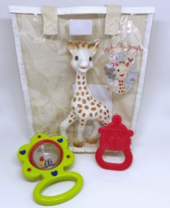Sophie La Girafe - Kit Presente Fresh Touch Chocalho Verde - Vulli