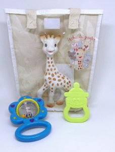 Sophie La Girafe - Kit Presente Fresh Touch Chocalho Azul - Vulli