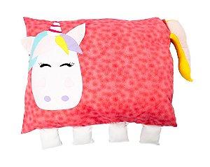Travesseiro Infantil Unicórnio Rosa - Colo de Mãe