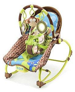 Cadeira de Balanço Musical Macaco 0-20 Kg - Multikids Baby