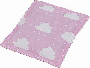 Almofada Térmica de Ervas Naturais para Alívio das Cólicas e Gases Nuvem Rosa - Bebê sem Cólica