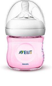 Mamadeira Avent Pétala Anti-Cólica 125ml 0+ Meses Rosa - Philips Avent