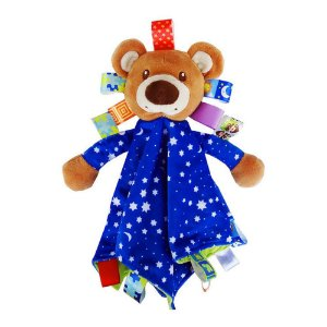 "Naninha Ursinho Azul  ""Taggies Blanket"" - Happytime"