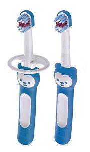 """Kit de Escovas de Dente para Bebê """"Babys Brush"""" Menino - MAM"""