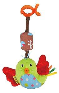 Pelúcia de Atividades Pássaro Feliz Colorido - Ks Kids