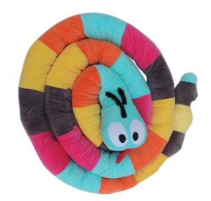 Cobra de Plush Multiuso Montessoriana Colorida 5 metros - Colo de Mãe