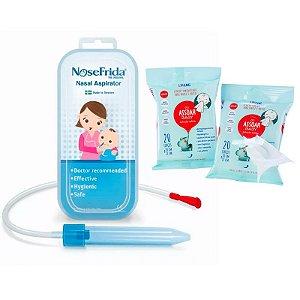 Nosefrida Aspirador Nasal + Assoar Baby com Solução Salina (02 unidades)