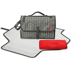 Trocador Portátil com Porta Lenço Grey Feather - Skip Hop