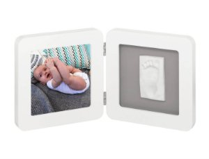 Porta Retrato com Molde My Baby Touch White & Grey - Baby Art