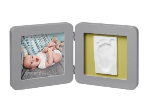 Porta Retrato com Molde My Baby Touch Grey - Baby Art