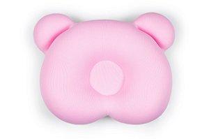 Almofada Ergonômica para Cabeça do Bebê Ursinho Rosa - Baby Pil