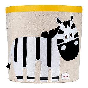 Cesto Organizador de Brinquedos Redondo Zebra - 3 Sprouts