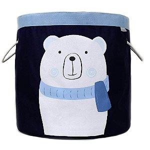 Cesto Organizador de Brinquedos Urso Polar - O Sapo e a Princesa