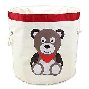 Cesto Organizador de Brinquedos Urso - O Sapo e a Princesa