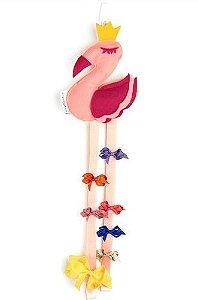 Organizador de Laços Flamingo - O Sapo e a Princesa