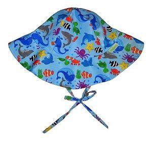 Chapéu de Banho Infantil com FPS +50 Fundo do Mar - Ecoeplay