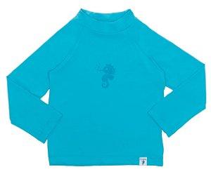 Camiseta Infantil de Banho com FPS 50+ Manga Longa Azul - Ecoeplay