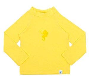 Camiseta Infantil de Banho com FPS 50+ Manga Longa Amarela - Ecoeplay