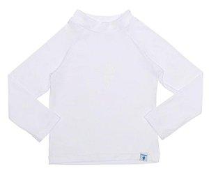 Camiseta Infantil de Banho com FPS 50+ Manga Longa Branco - Ecoeplay