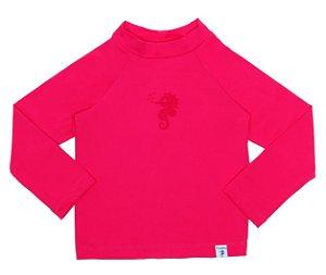 Camiseta Infantil de Banho com FPS 50+ Manga Longa Rosa Pink - Ecoeplay