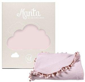 Manta Protetora com Repelente Pompom Rosa - Nutti