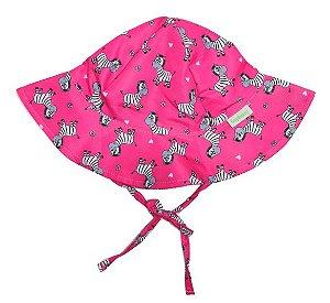 Chapéu de Banho Infantil com FPS +50 Zebrinhas Rosa - Ecoeplay