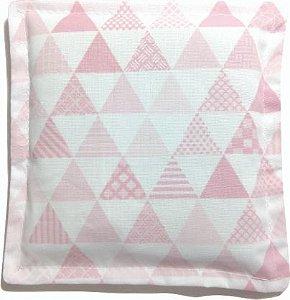 Almofada Térmica de Ervas Naturais para Alívio das Cólicas e Gases Triângulo Rosa - Bebê sem Cólica