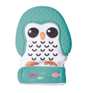 Luva Mordedor de Silicone Pinguim Verde - Girotondo Baby