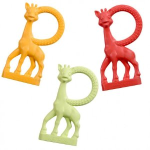 Combo Sophie La Girafe Mordedor Vanilla (Laranja, Verde e Vermelho) - Vulli