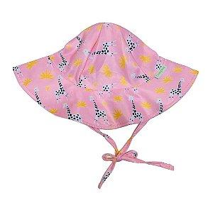 Chapéu de Banho Infantil com FPS +50 Girafa Rosa - Ecoeplay