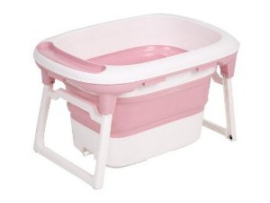 Banheira Dobrável Ofurô Luxo Rosa (0 meses à 10 anos) - Baby Pil