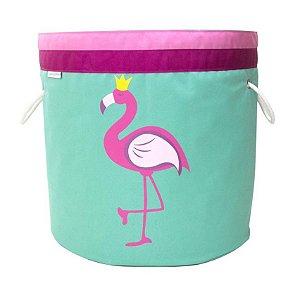 Cesto Organizador de Brinquedos Flamingo - O Sapo e a Princesa