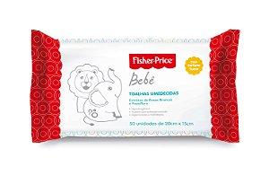 Toalhas Umedecidas Fisher-Price Bebê com Perfume 50 unidades
