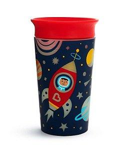 Copo de Treinamento 360 (Miracle Cup) Glow Astronauta 270ml - Munchkin