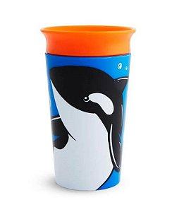 Copo de Treinamento 360 (Miracle Cup) Wild Baleia 270ml - Munchkin