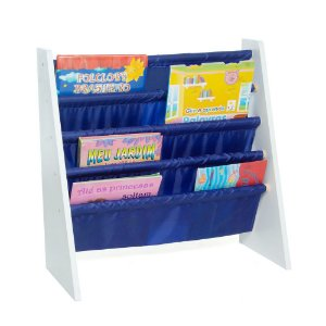 Rack para Livros Infantis Azul (Biblioteca Kids) - Momis Petit