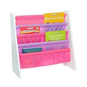 Rack para Livros Infantis Rosa (Biblioteca Kids) - Momis Petit