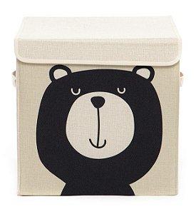 Caixa Organizadora Infantil Linha Animals com Tampa - Urso Teddy