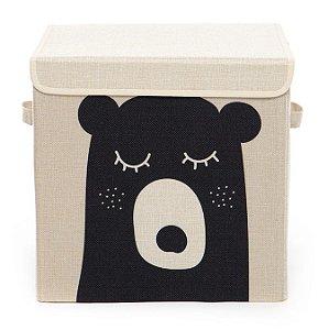 Caixa Organizadora Infantil Linha Animals com Tampa - Urso Bubi